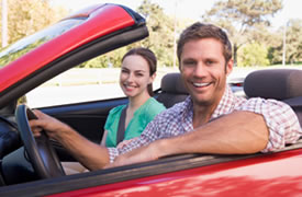 Couple with car insurance in Massachusetts
